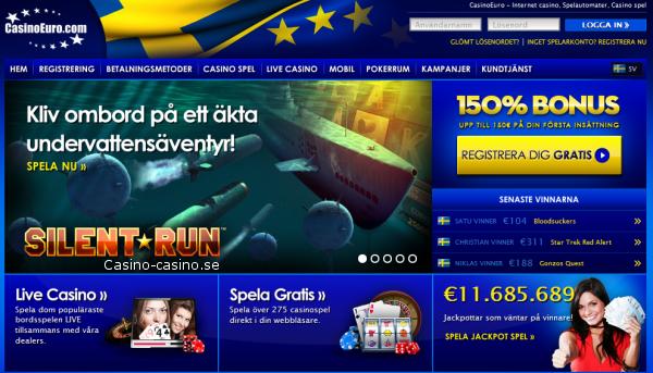 casinoeuro bjuder på 275 spel i webbläsaren