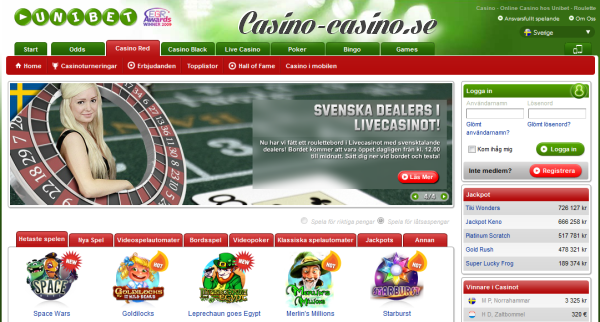 unibet casino bjuder på casino, betting och poker
